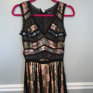 Sequin neutral color size 2 dress